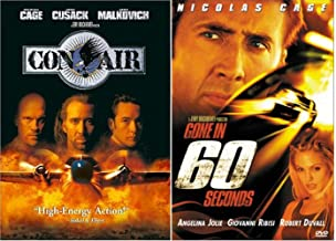 Nicolas Cage Double Feature Con Air & Gone in 60 Seconds 2 DVD Set Widescreen