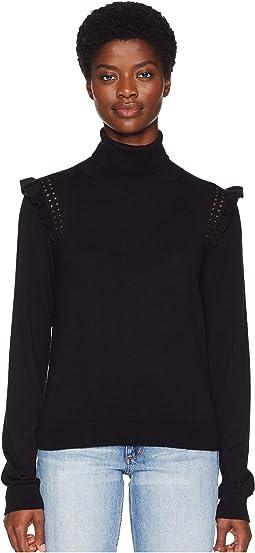 Key Pieces Ruffle Turtleneck Sweater