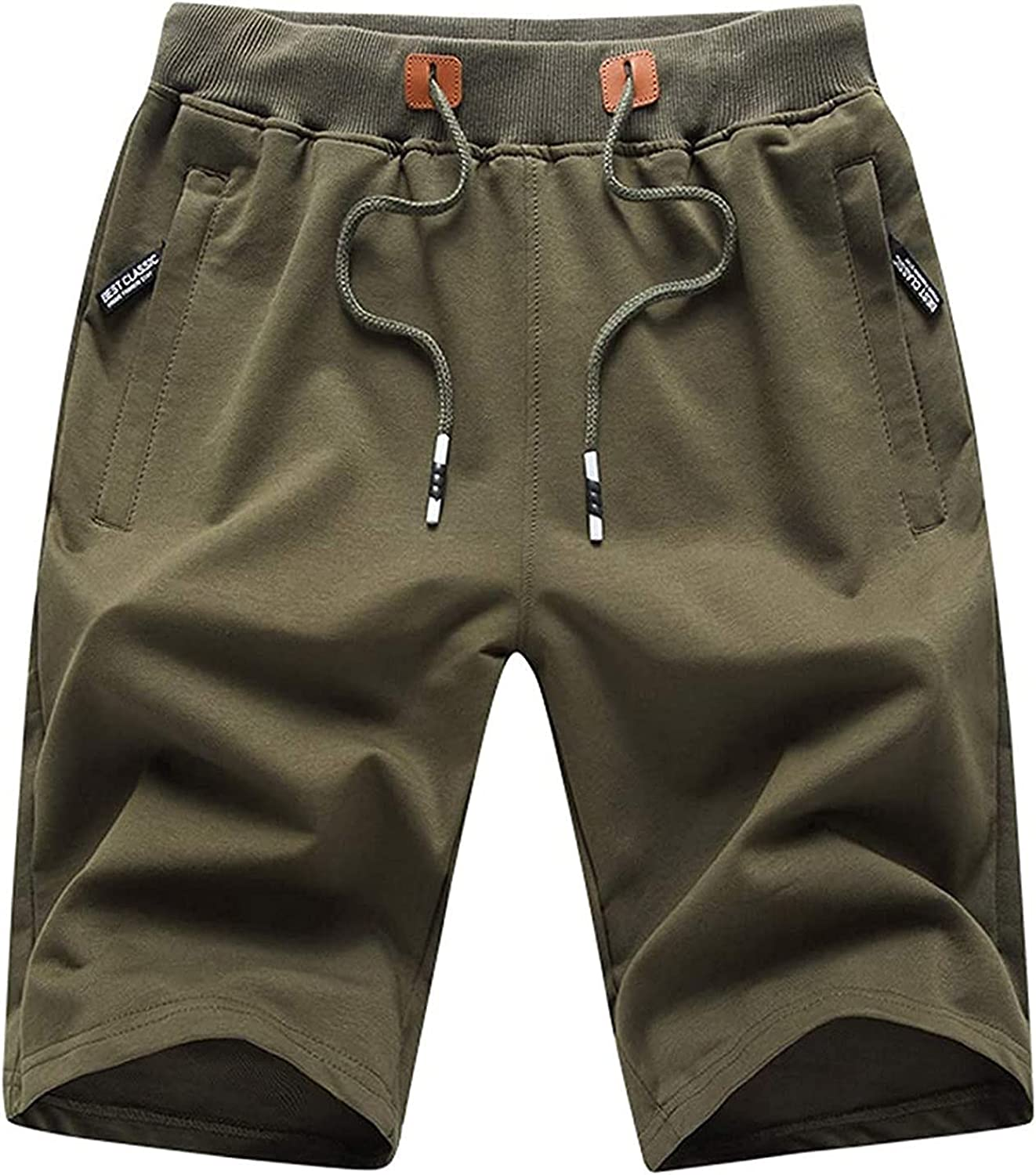 Men's Lounge Shorts with Deep Pockets Summer Casual Loose-fit Je