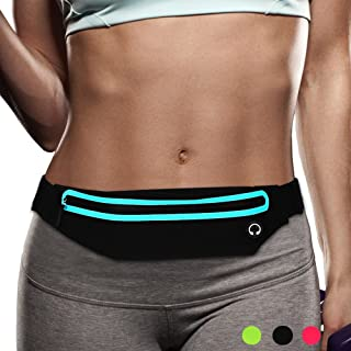 Filoto Running Belt, Running Waist Pack for Women&Men USA Patented Hands-Free Reflective Runner Pouch Belt Fitness Workout Bag No-Bounce Adjustable Sport Fanny Pack Phone Holder for iPhone 11 X 8 7 6
