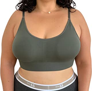 Women's Plus Size Bralette Sexy Everyday Basic Wireless Scoop Neck Bra Bralette