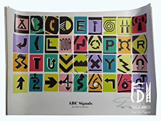 "Alfabeto ""ABC Signals Font"" obra de Fabio De Minicis Póster tamaño 70 x 100 cm sin enmarcar"