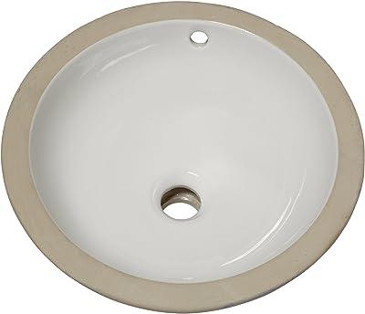 American Standard 630000 020 Orbit Ceramic Undermount Round Bathroom Sink 15 5 L X 15 5 W X 6 H White Amazon Com