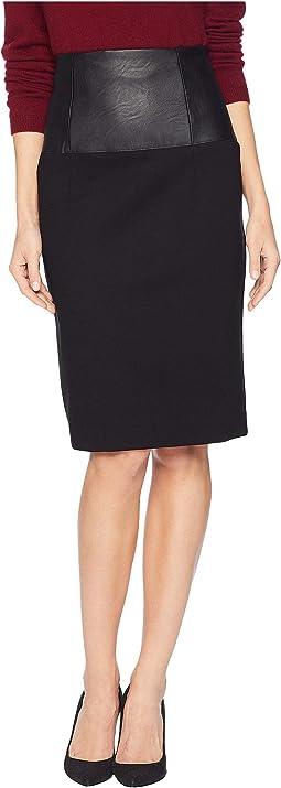 Ponte High-Waisted Skirt