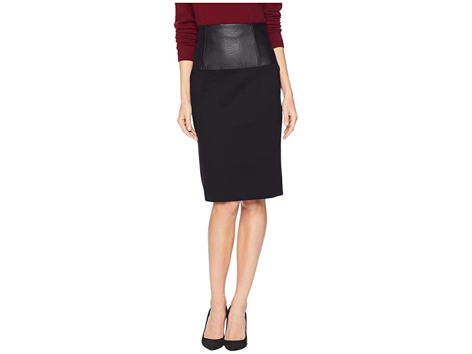 Kenneth Cole New York Ponte High-Waisted Skirt (Black) Women