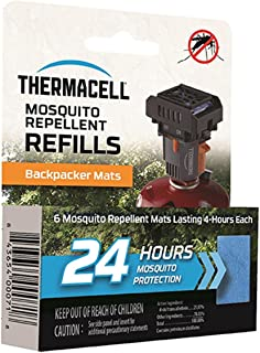 Thermacell Backpacker Mosquito Repellent Mat-Only Refills, 24-Hour Pack; Contains 6 Repellent Mats, Each Lasting 4 Hours; Use with Convenient and Easy to Use Backpacker Mosquito Repeller; DEET-Free
