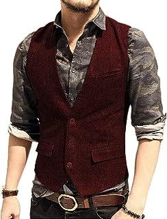 burgundy tweed waistcoat