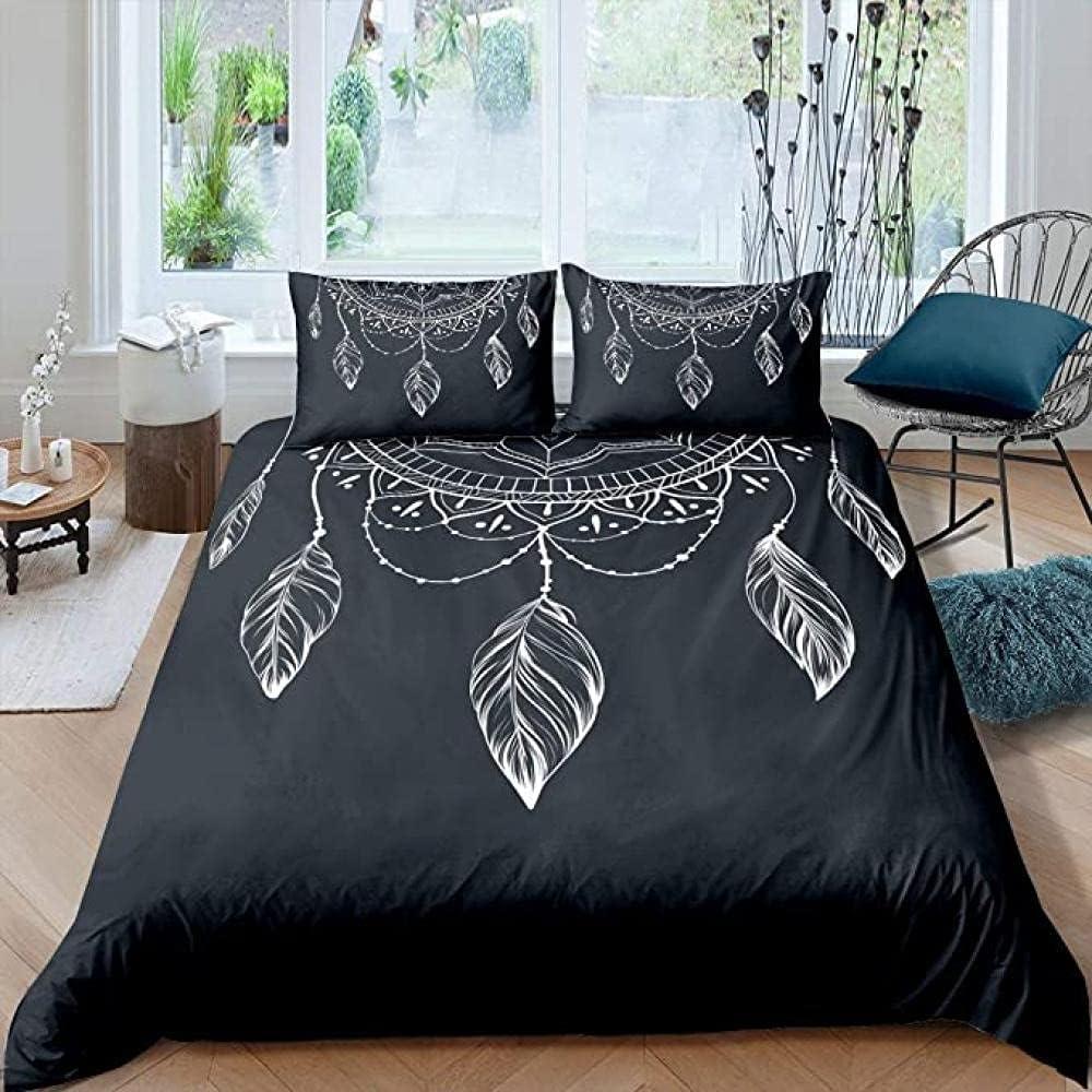 HSBZLH 3Pcs Max 78% Max 57% OFF OFF Boho Duvet Cover Exotic Indi Comforter Dream Catcher