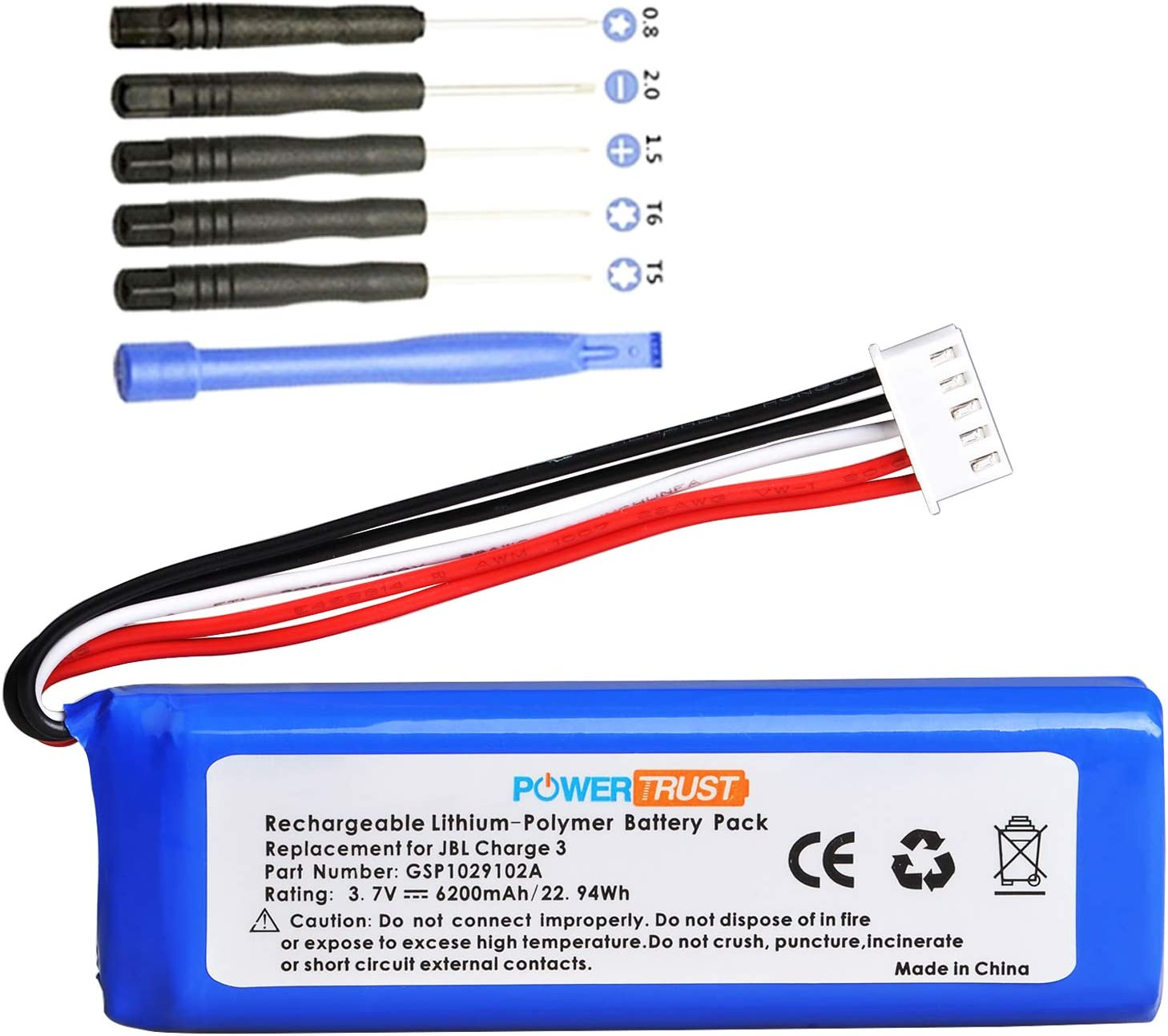 PowerTrust 3.7V 6200mAh Replacement Battery Par Charge Department Quality inspection store for 3 JBL