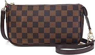 Checkered Crossbody Bag for Women Luxury Shoulder Bags Handbags with Strap and Chain