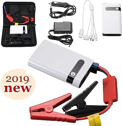 Uhmhome Mini arrancador de coche 400 A pico 20000 mAh, 12 V Auto batería arrancador cargador de batería portátil para coches, camión, SUV con USB de carga rápida, 20000mh
