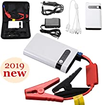 uhmhome Mini Car Jump Starter 400A Peak 20000mAh, 12V Auto Battery Jumper Engine Battery Charger Portable Power Bank for Cars, Truck, SUV with USB Quick Charge