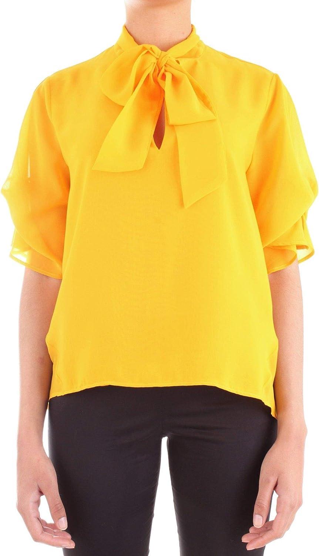 Annarita N Women's A315yellow Yellow Polyester Shirt