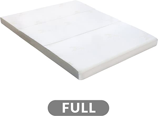Milliard Full Tri Folding Mattress With Washable Cover 73 Inches X 52 Inches X 4 Inches