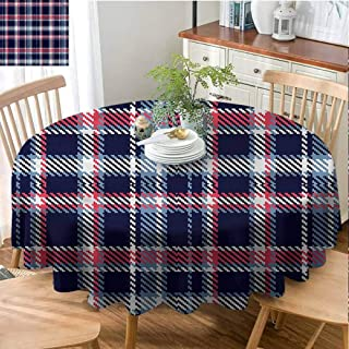 Mannwarehouse Checkered Dustproof tableclothGeometrical Mosaic Great for Buffet Table D43