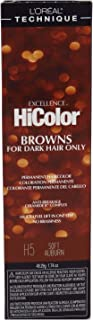 Loreal Excellence Hicolor H05 Tube Soft Auburn 1.74 Ounce (51ml) (3 Pack)