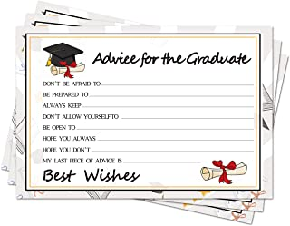 Graduation Party Wish Cards - High School or College Graduation Party Advice Cards Suggest Cards Supplies 2020 Decorations