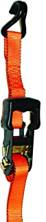 S-Line SL81 Ratchet Strap Tie Down with Large Molded Handle and Double J-Hooks, 1-1/4-Inch by 16-Feet, Orange, 700-Pounds Working Load Limit, 2-Pack
