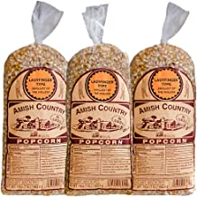 Amish Country Popcorn - Ladyfinger Kernels (3 Lb) Gift Set - Old Fashioned, Non GMO, Gluten Free, (3) 1 Pound Bags - with Recipe Guide