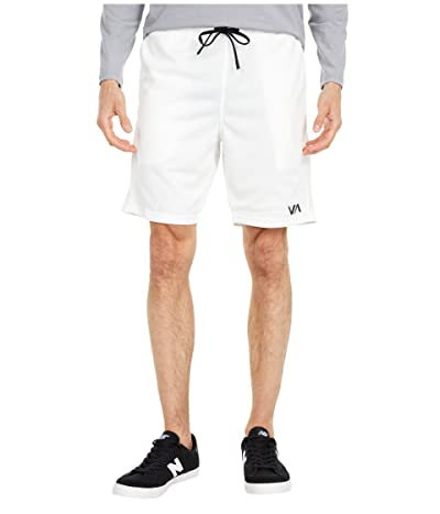 RVCA VA Sport Mesh Shorts (White) Men