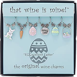 easter wine glass charms