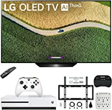"""$2296 » LG OLED65B9PUA B9 65"""" 4K HDR Smart OLED TV with AI ThinQ (2019) Bundle with Microsoft Xbox One S 1TB Console, Flat Wall Mount Kit, Wireless Keyboard and 6-Outlet Surge Adapter with Night Light"""