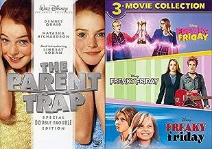 Collection of Friday Disney Lindsay Lohan Movie Freaky Friday 3 Movie Set + Parent Trap 4 DVD Film Bundle