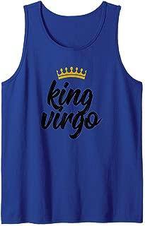 Mens King Virgo Star Sign Birthday August 23 to September 22 Tank Top