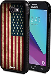Galaxy J3 2017 Case,AIRWEE Slim Anti-Scratch Shockproof Silicone TPU Back Protective Cover Case for Galaxy J3 Prime/J3 2017/J3 Emerge,Old American Flag