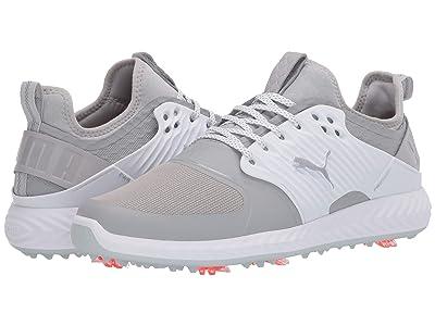 PUMA Golf Ignite PwrAdapt Caged (Gray Violet/Puma Silver/Puma White) Men