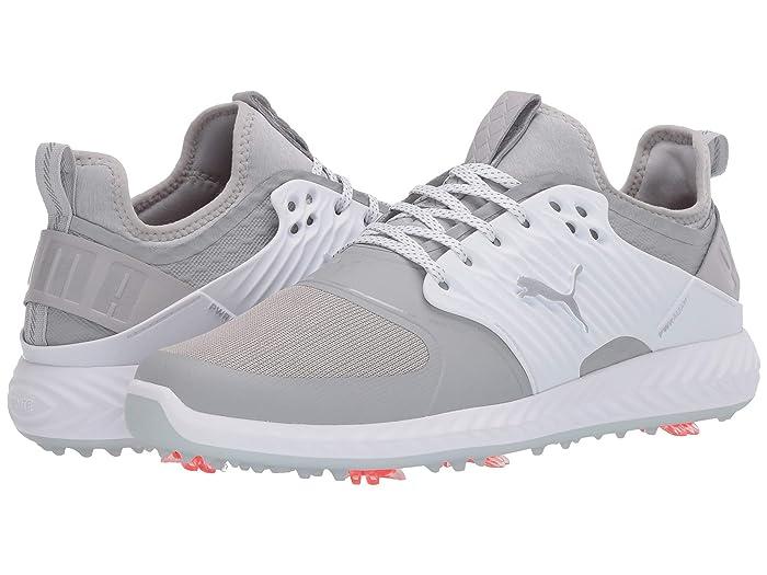 PUMA Golf  Ignite PwrAdapt Caged (Gray Violet/Puma Silver/Puma White) Mens Shoes