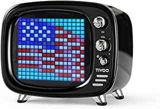 Divoom Tivoo Retro Bluetooth Speaker - Pixel Art DIY Box, RGB Programmable 16X16 LED, Support Android & iOS; TF/SD Card & Aux 3.9X3X3.2 Inches
