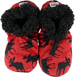 Classic Moose Fuzzy Feet Womens Slippers