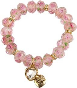Tzarina Pink Beads Stretch Bracelet