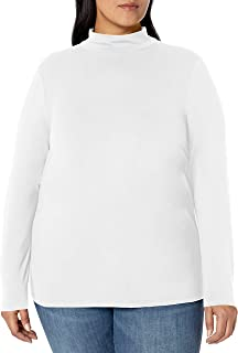 Women's Plus Size Long-Sleeve Mockneck