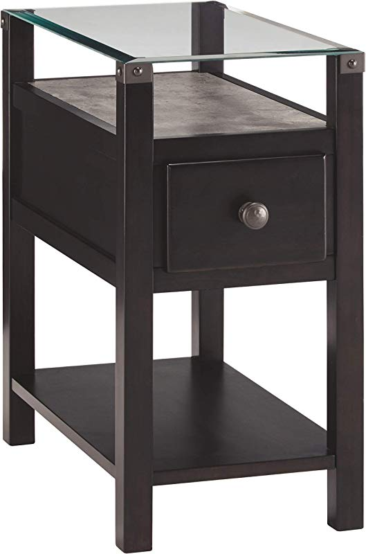Ashley Furniture Signature Design Diamenton Chairside End Table Almost Black