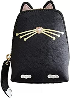 Kate Spade Jazz Things Up Black Cat Leather Coin Purse