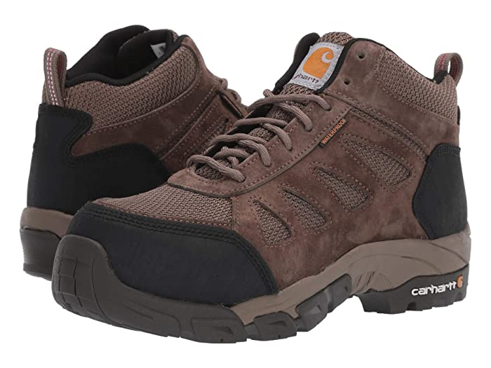 Carhartt  Lightweight Waterproof Hiker Carbon Nano Comp Toe (Brown) Womens Work Lace-up Boots