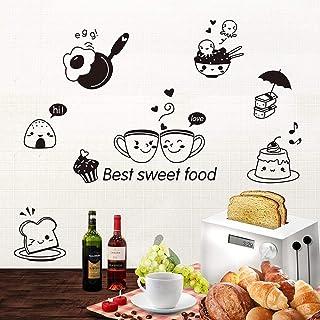 Mural ZOZOSO Pegatinas De Pared DIY para Cocina Dulces Alimentos Café Pared Arte Calcomanía Horno Comedor
