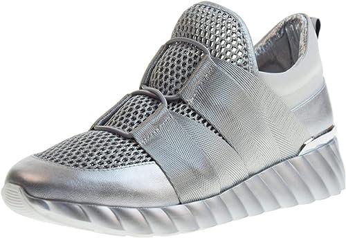 Uma Parker New York Chaussures Femme paniers Basse sans Lacets 040119PN argent