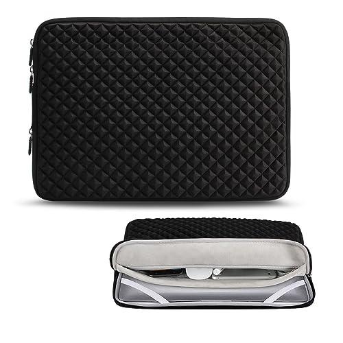 Icozzier 13-13.3 Pulgadas Diamond Foam Splash Manga Bolsa de Transporte para ASUS Acer HP Lenovo DELL Samsung Chromebook Notebook Toshiba Ultrabook Laptop MacBook (Negro)