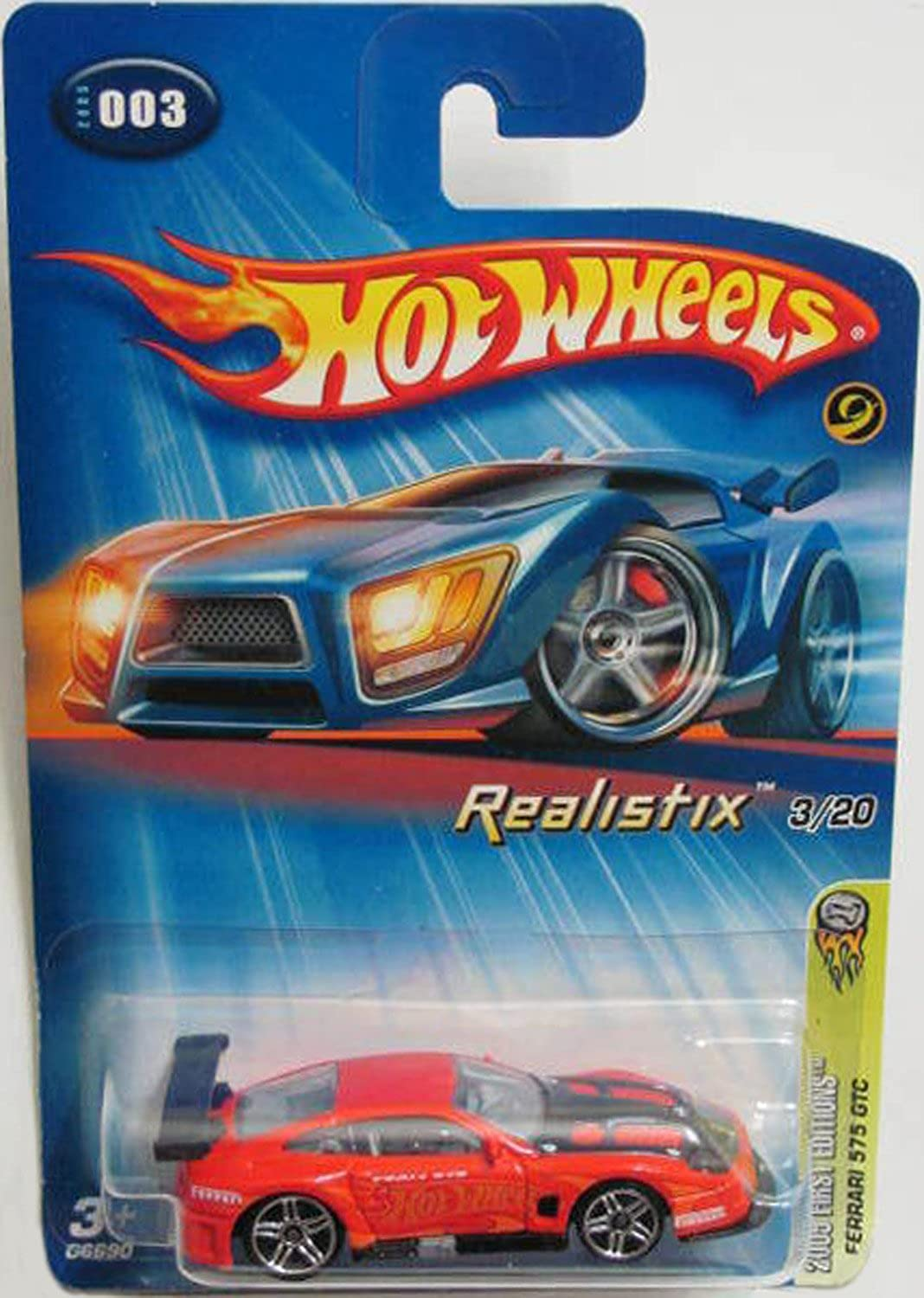 2005 Ferrari 575 GTC Hot Wheels Collectible - Realistix Series - 3