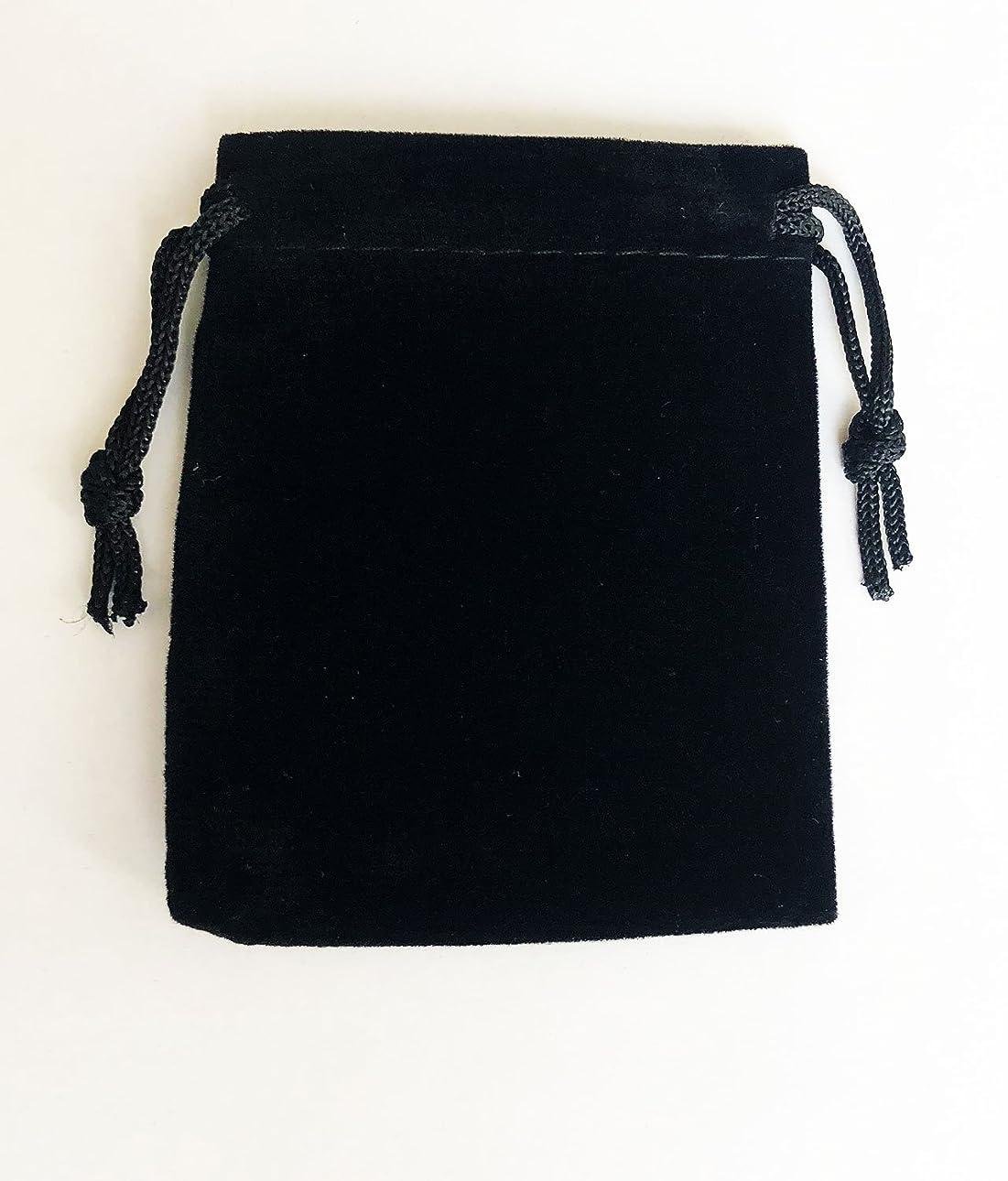 ジーンズ証明姉妹ジュエリーポーチ アクセサリー 保存袋 巾着袋 携帯用 高級ベロア調 プレゼント用ポーチ Sサイズ ブラック×5枚セット LocustOL 国内検品実施製品/安心の国内発送