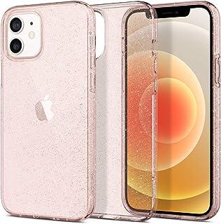 Spigen Liquid Crystal Glitter Designed for Apple iPhone 12 Case (2020) / Designed for iPhone 12 Pro Case (2020) - Rose Quartz