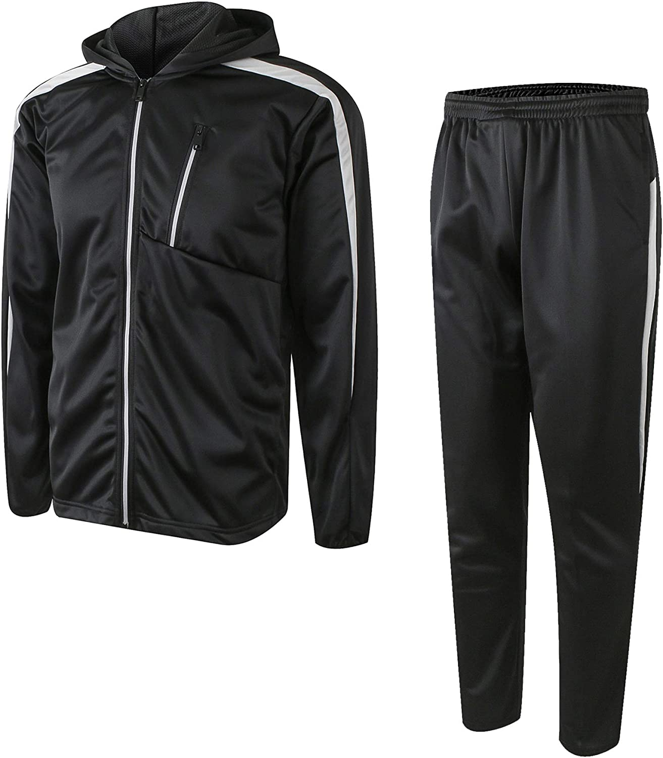 URBEX Mens Athletic 2 Piece Limited price Tracksuit Spor Finally popular brand Set Hooded Jacket and