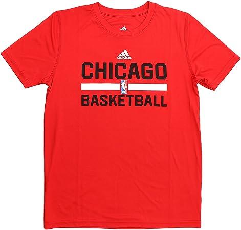 adidas Chicago Bulls S/S Climalite Practice NBA - Camiseta de baloncesto para niños