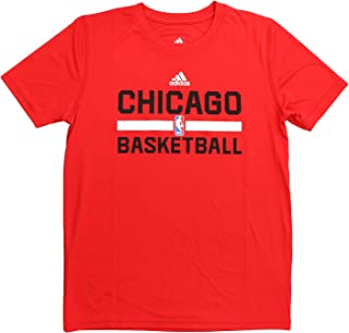 adidas Chicago Bulls S/S Climalite Practice NBA Fan Basketball Tee - Youth Kids