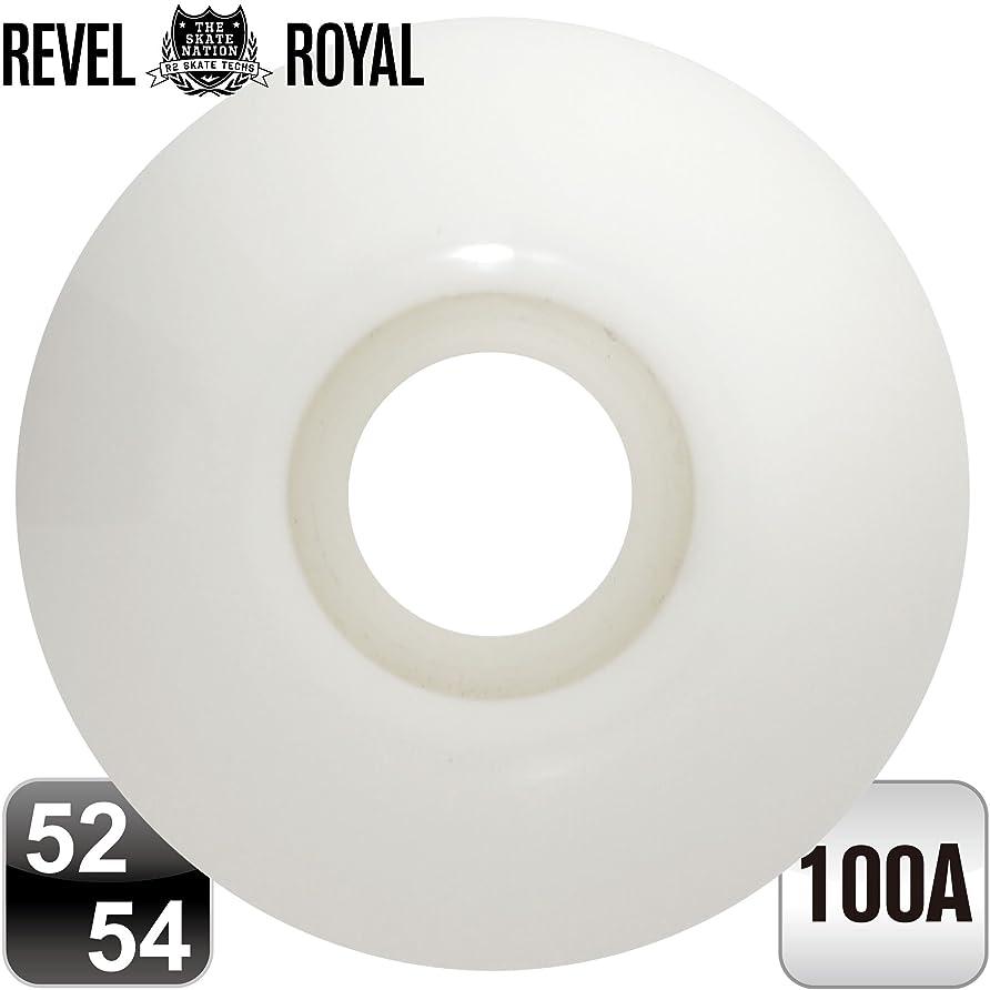 取り付け一致ベアリングREVEL ROYAL スケートボード スケボー ウィール 100A ブランク 無地《4個1セット》