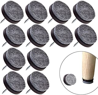 Round Heavy Duty Felt Furniture Pads 50 Pcs, Nail-on Anti-Sliding Glide Pads Floor Protectors by Happy Shop for Wooden Furniture Chair,Stools,Tables Leg Feet(0.78