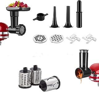 Coupe-légumes et Pièces de Rechange de Hachoir à Viande pour KitchenAid Machines de Cuisine, Accessoires pour Hachoirs à V...